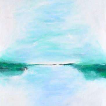 Amaneci enamorada del amor (I woke up in love with love) Acrylic on Canvas 47x40