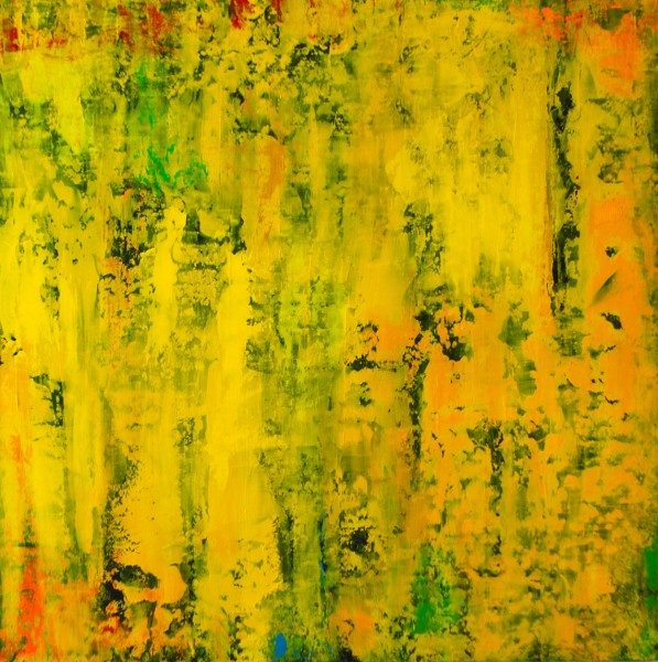 Apareciste Una Mañana.Acrylic on Panel.36×36