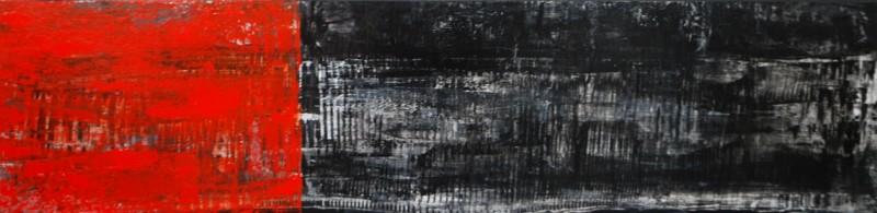 Caminado de la mano.(walking hand in hand).Acrylic on Panel.8×24