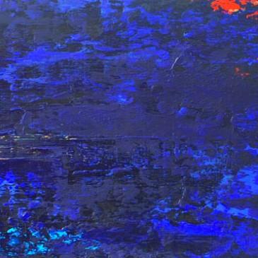 Elation.Acrylic on Panel.8x24