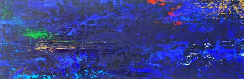 Elation.Acrylic on Panel.8×24