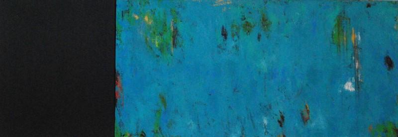 En tus profundidades (Feeling You Deeply). Acrylic on Canvas. 24×60.