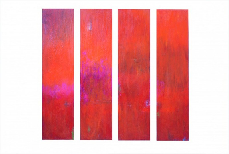 Euphoria Acrylic on Canvas 48×12 each. Jpg