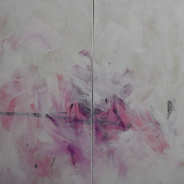 Expansive Energy I _ II 36x24 Diptych