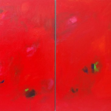 Free Love Acrylic on wood panel 36x72 (Diptych)