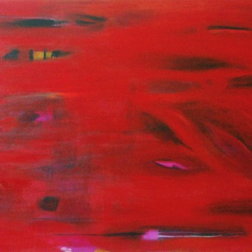 Historia de amor II (Love story II) Acrylic on canvas 36x60