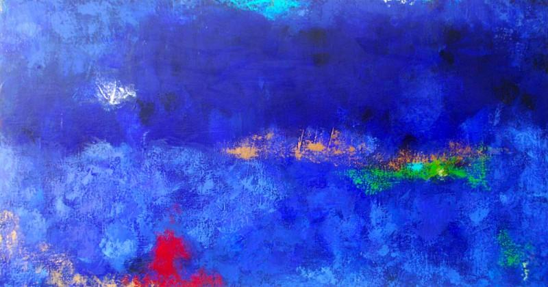Parallel Resonance.Acrylic on Canvas.30×54