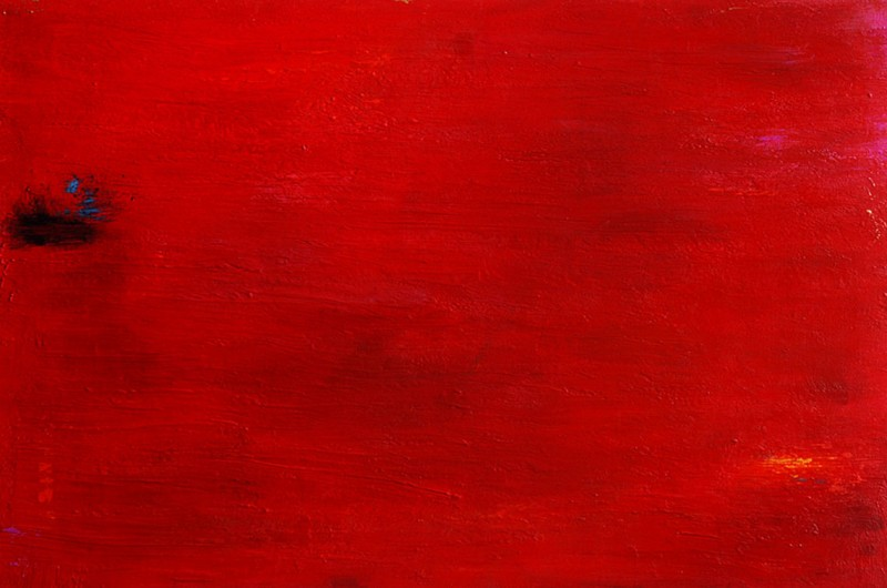 Red Delight. Acrylic on Wood panel. 24×36