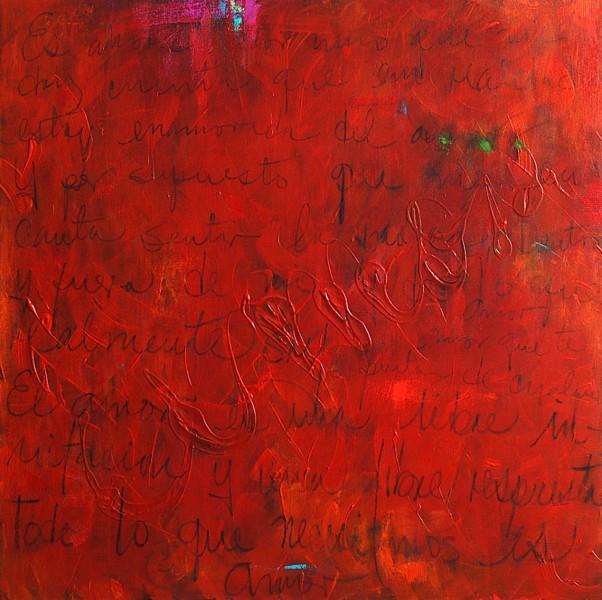 Todo lo que necesito es Amor ( All i need is love) Acrylic on Canvas 36×36